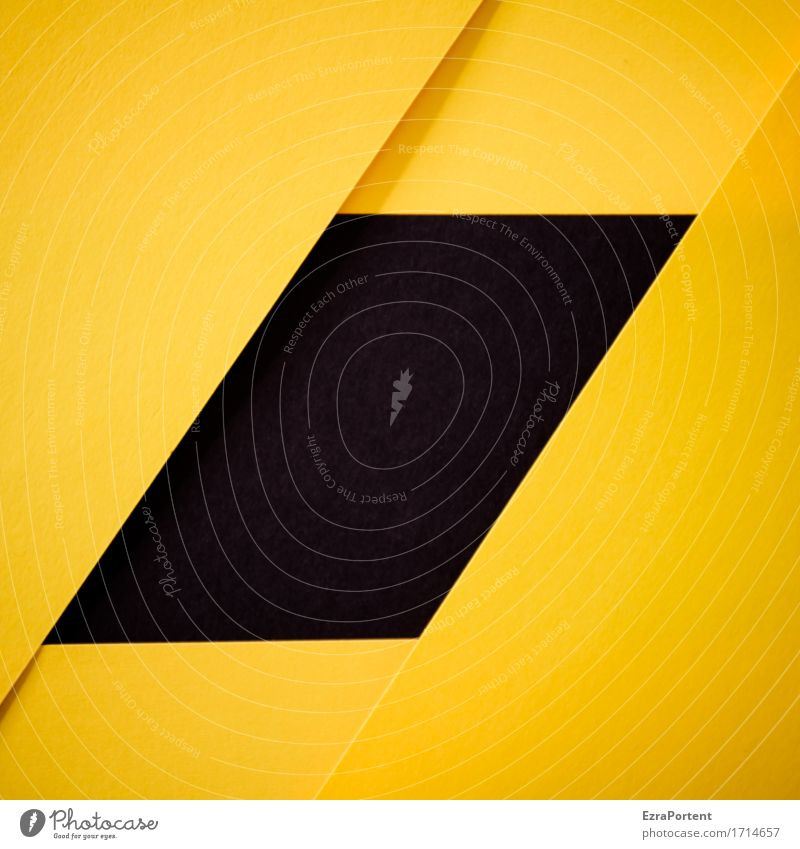 S/G Paper Decoration Sign Signs and labeling Line Stripe Yellow Black Design Colour Advertising Background picture Wrinkles Illustration Graph Graphic