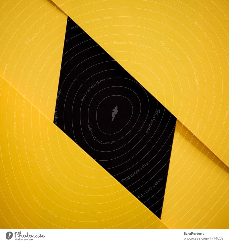 Eroticism Black Yellow Background picture Line Design Signs and labeling Paper Illustration Graphic Advertising Sharp-edged Geometry