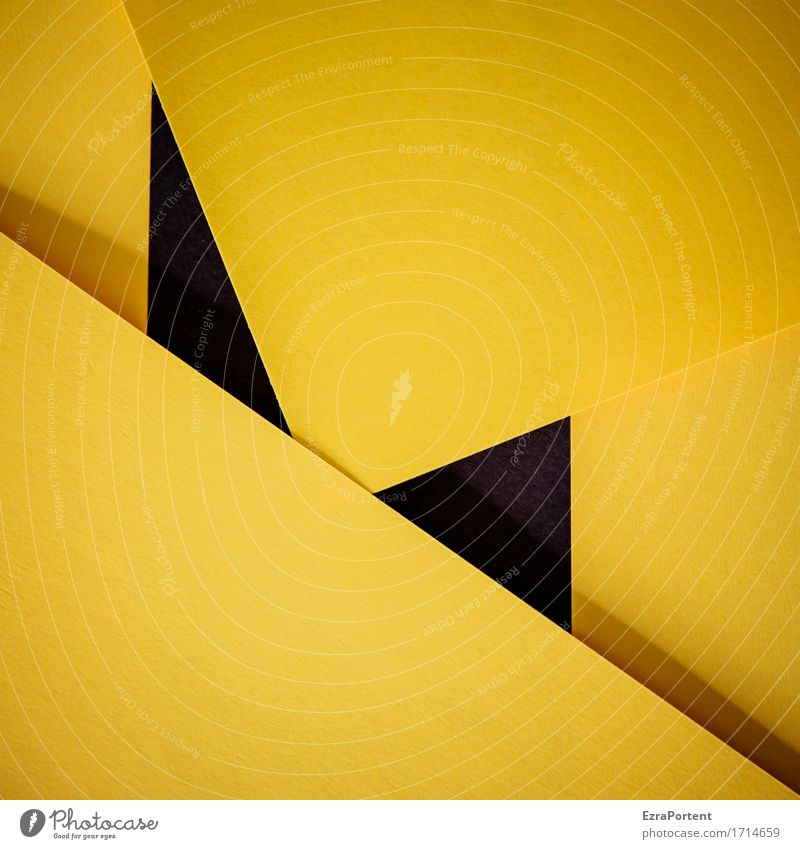 G\|s\G/s|\G Paper Decoration Sign Signs and labeling Line Stripe Sharp-edged Yellow Black Design Colour Advertising Background picture Geometry