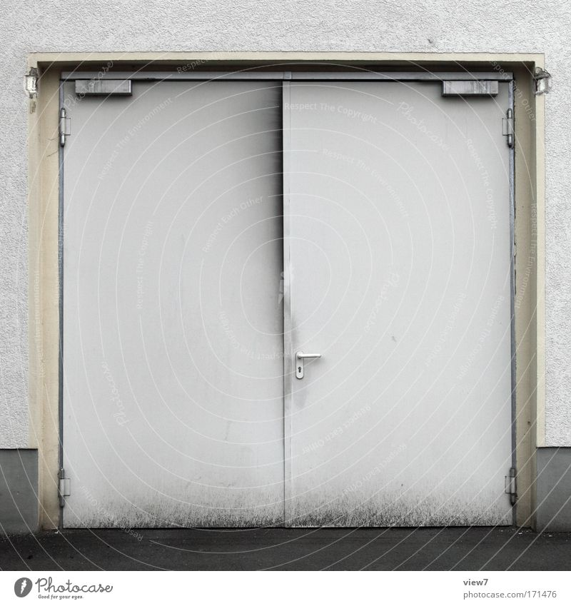 Old White House (Residential Structure) Cold Wall (building) Wall (barrier) Dirty Door Transport Simple Gate Vehicle Garage Industrial plant Workplace