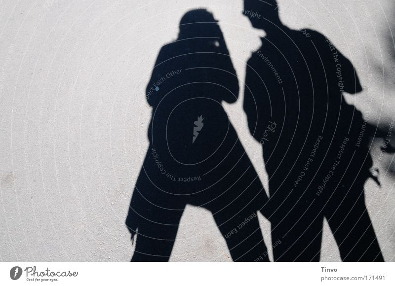 Woman Human being Man Adults To talk Think Couple Together In pairs Stand Communicate Team Shadow Curiosity Amazed