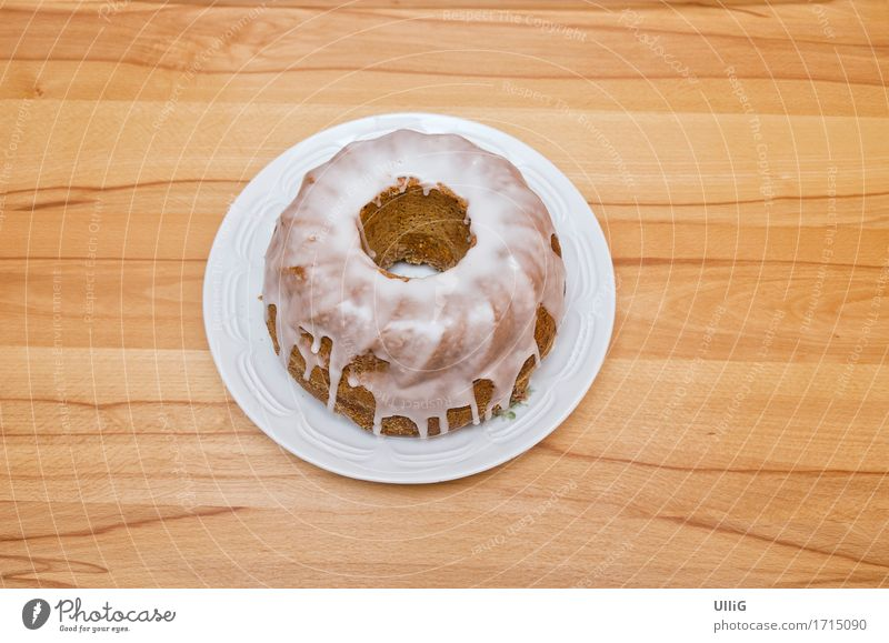 Dish Wood Food Circle Round Delicious Café Cake Baked goods Wood grain Baker Bakery To have a coffee Wreath Icing Overlaid