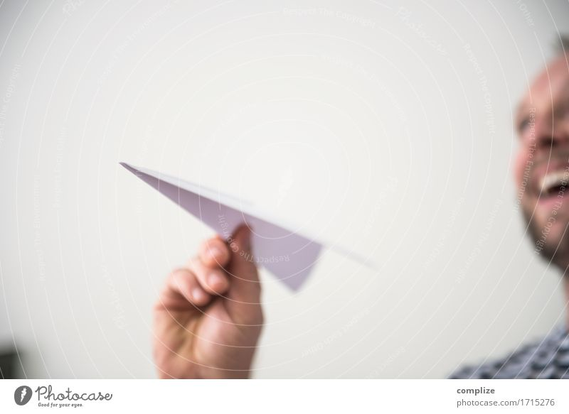take a plane Expedition Airport Airplane Playing Throw Innovative Paper plane Joy Vacation & Travel Travel photography Passenger plane Aviation