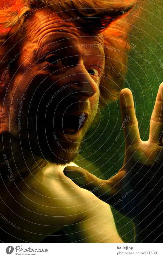 Human being Man Hand Ocean Face Eyes Life Hair and hairstyles Head Lake Mouth Fear Adults Masculine Nose Fingers