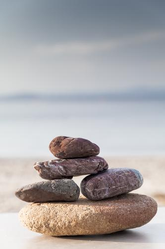 Vacation & Travel Summer Ocean Relaxation Calm Beach Emotions Natural Stone Contentment Wellness Peace Serene Well-being Harmonious Meditation