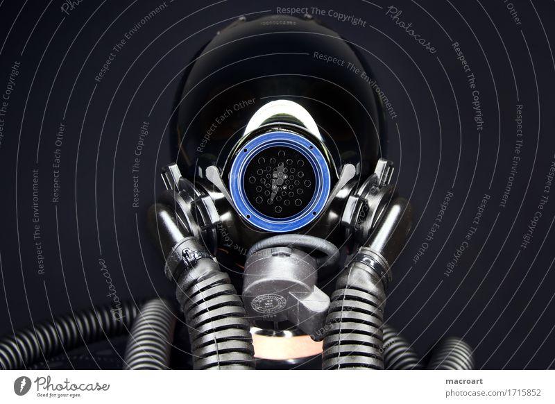 mask fetish Fetishism Mask Hose hoses Blue Light Aperture Gun sight Air force
