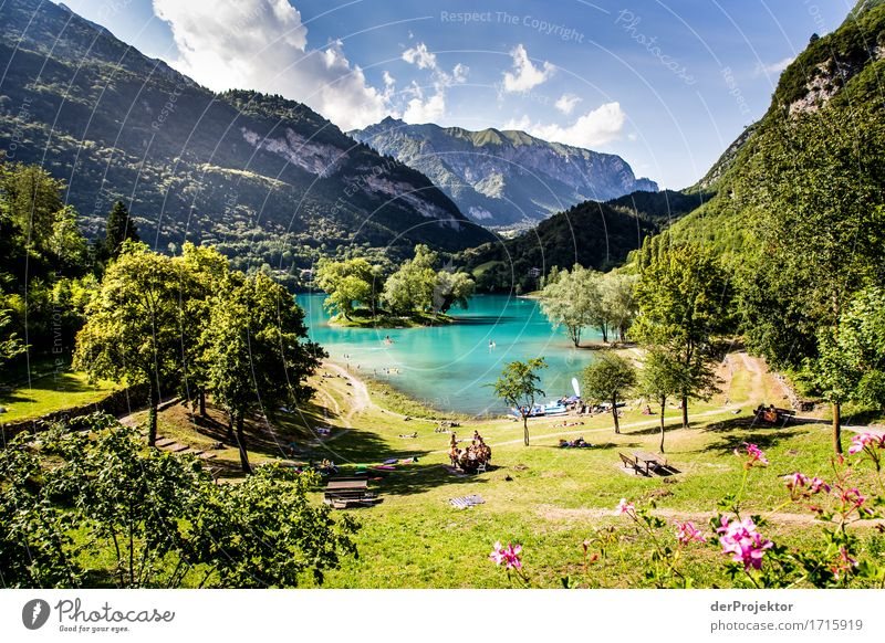 Lago di Tenno in Italy Vacation & Travel Tourism Trip Adventure Far-off places Freedom Summer vacation Sunbathing Beach Mountain Hiking Environment Nature