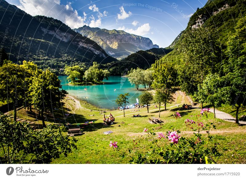 Lago di Tenno in Italy Vacation & Travel Tourism Trip Adventure Far-off places Freedom Camping Summer vacation Sunbathing Island Mountain Hiking Environment