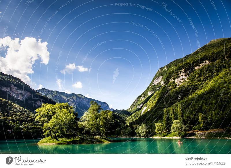 Island in the Lago di Tenno in Italy Vacation & Travel Tourism Trip Adventure Far-off places Freedom Summer vacation Mountain Hiking Environment Nature