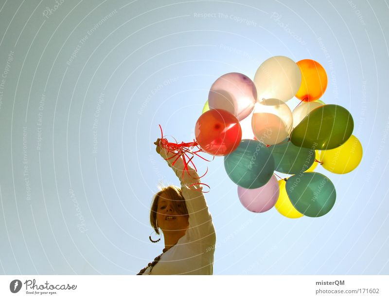 Happy birthday. Colour photo Multicoloured Exterior shot Experimental Copy Space left Copy Space top Neutral Background Day Light Sunlight Deep depth of field