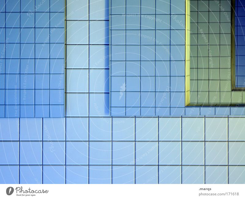 mirror Colour photo Interior shot Abstract Pattern Structures and shapes Reflection Style Design Mirror Bathroom Line Exceptional Sharp-edged Simple Clean Blue