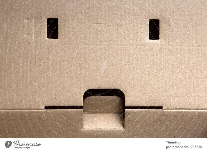 Black Emotions Line Esthetic Simple Sharp-edged Packaging Cardboard Beige Rectangle Bend Slit