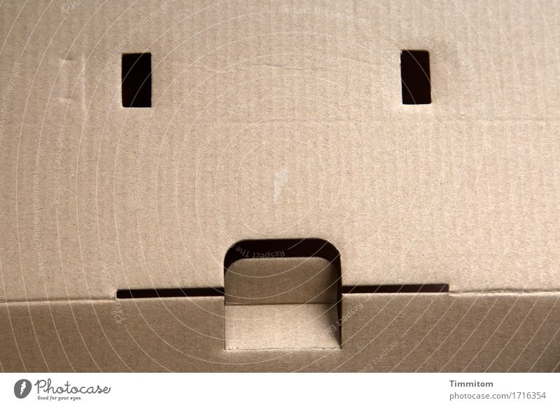 Face Eyes Line Esthetic Simple Mouth Observe Packaging Cardboard Carton Decent Peephole