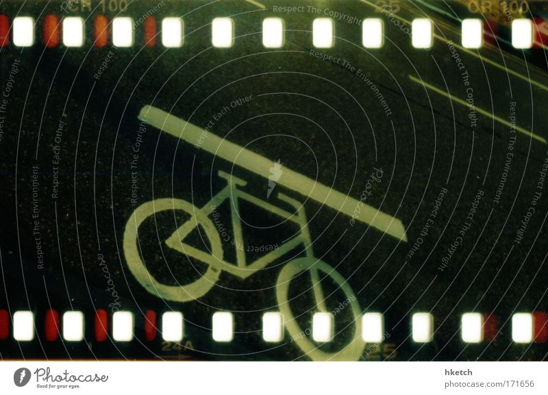Black Street Lanes & trails Bicycle Driving Passenger traffic Road sign Road sign Holga Orderliness