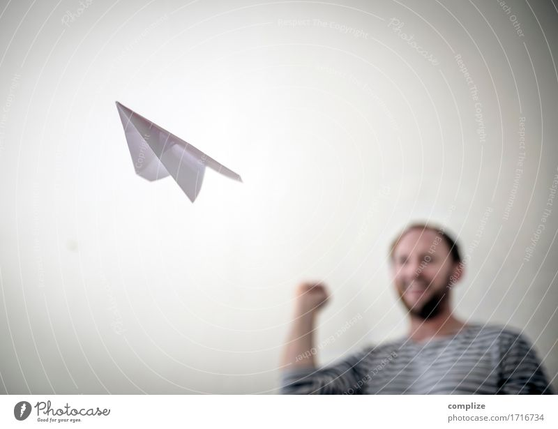 paper airplane Joy Happy Relaxation Leisure and hobbies Playing Model-making Vacation & Travel Tourism Far-off places Freedom Summer Living or residing Business