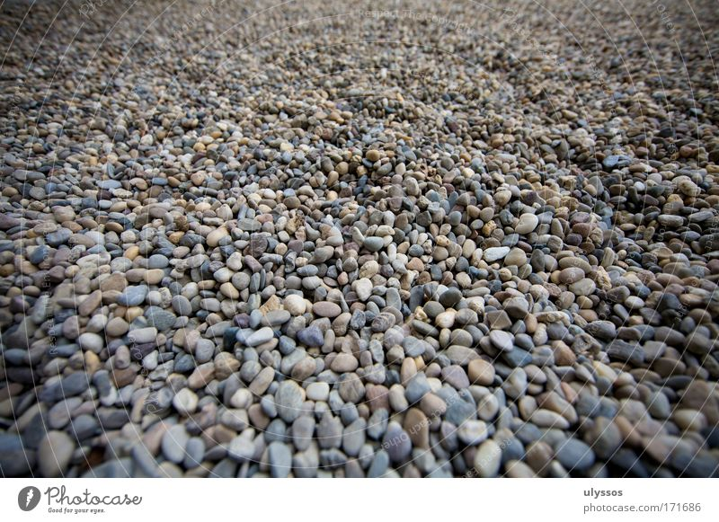 stone bath Subdued colour Exterior shot Deserted Day Contrast Shallow depth of field Bird's-eye view Landscape Beach Stone Firm Brown Gray Black White