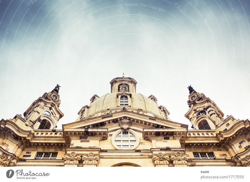 Sky City Heaven Religion and faith Church Belief Manmade structures Dresden Baroque Baroque Virgin Mary Frauenkirche