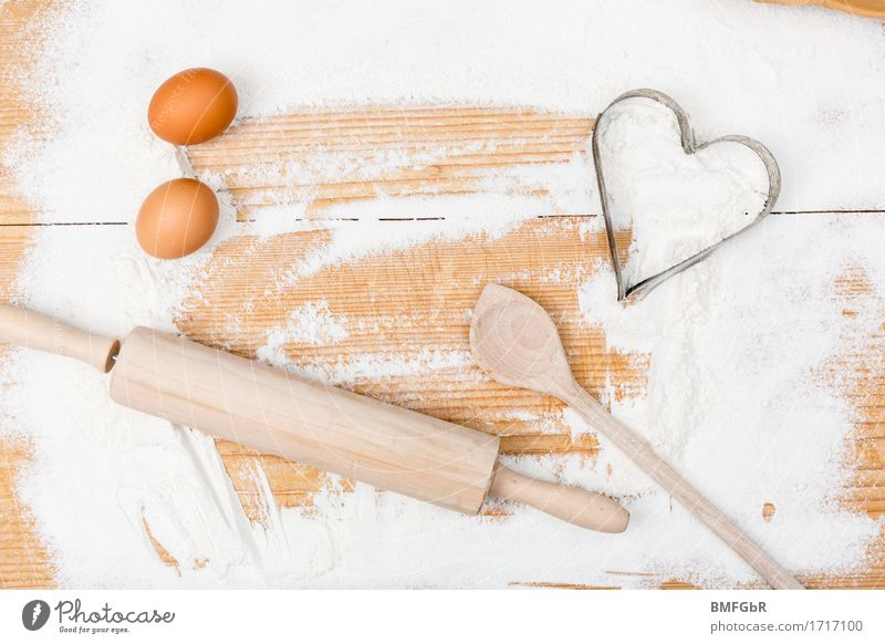Lie Signs and labeling Heart Signage Cooking Egg Chopping board Ingredients Flour Warning sign Wooden spoon Baking