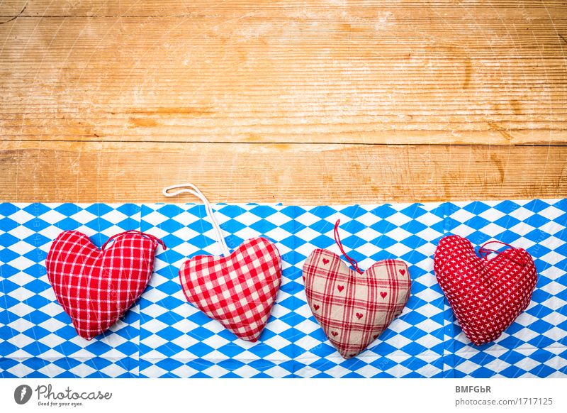 Heart for Bavaria Party Event Going out Feasts & Celebrations Eating Drinking Oktoberfest Munich Germany Napkin Wood Sign Signs and labeling rasp Old Simple