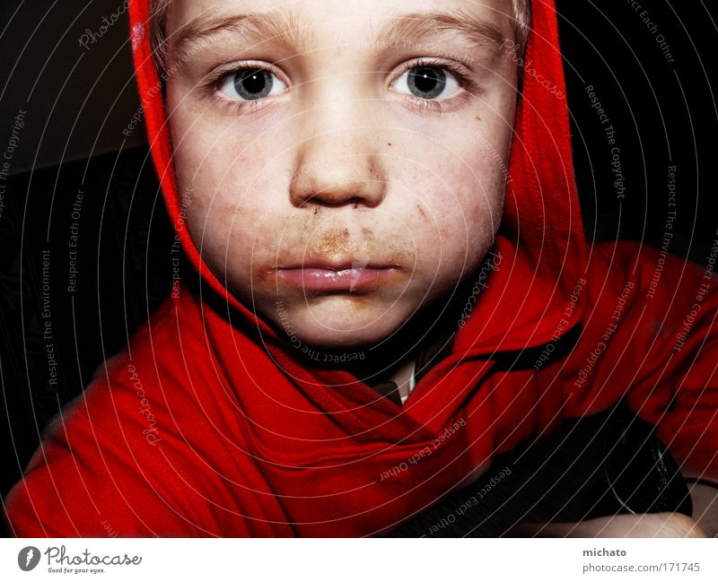 Human being Child Red Face Boy (child) Head Sadness Dirty Eating Masculine Natural Delicious Appetite