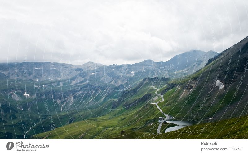 One Way Colour photo Exterior shot Deserted Day Panorama (View) Nature Landscape Clouds Storm clouds Summer Bad weather Thunder and lightning Alps Mountain