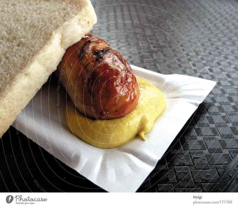 White Yellow Brown Contentment Nutrition Food Simple Hot To enjoy Appetite Delicious Bread Fragrance Fat Desire Sausage