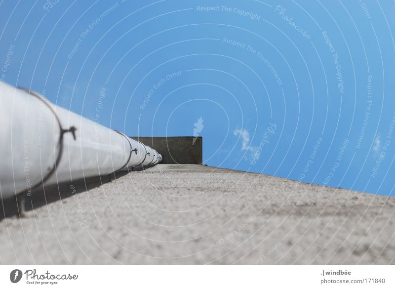 Path of water Colour photo Exterior shot Deserted Day Worm's-eye view Upward Münster House (Residential Structure) Building Wall (barrier) Wall (building) Eaves