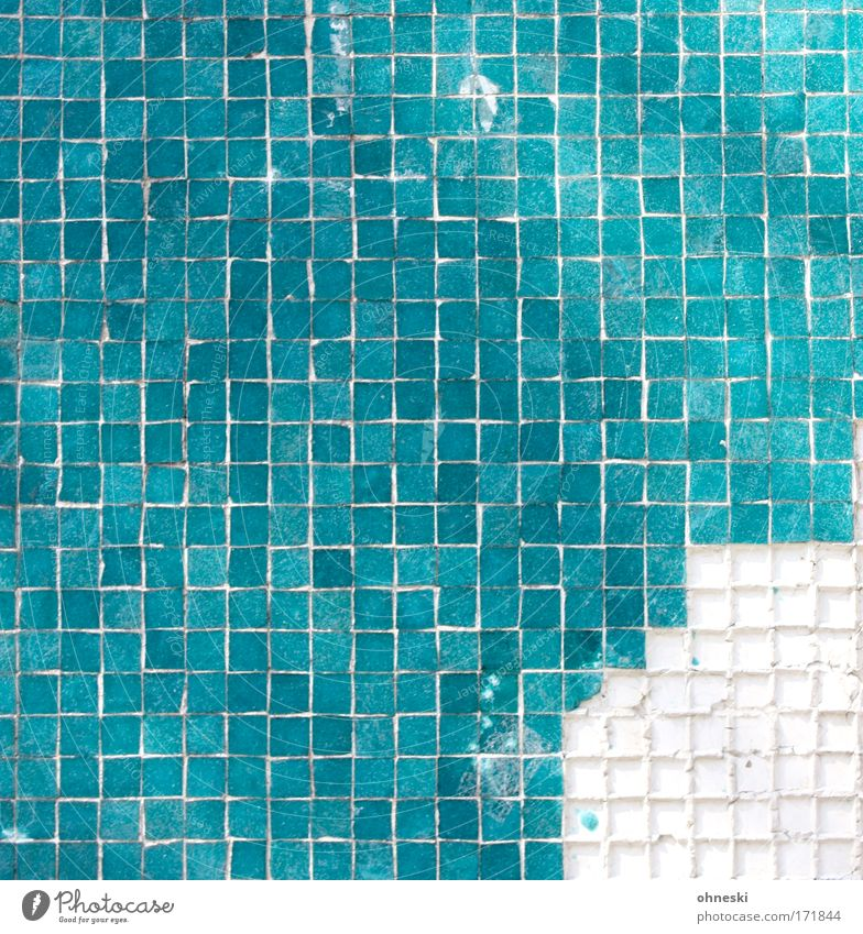 Green Line Broken Clean Concepts &  Topics Tile Square Manmade structures Turquoise Column Repair Seam Mosaic Damage