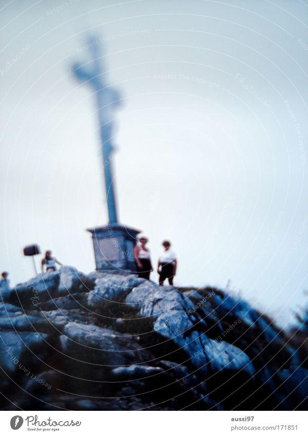Mountain Group Rock Hiking Alps Climbing Peak Mountaineering Mountaineer Androgynous Peak cross