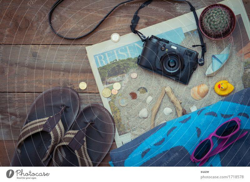 Vacation & Travel Travel photography Sand Watercraft Camera Newspaper Collection Sunglasses Mussel Towel Grasp Cactus Box up Flip-flops Beach vacation Swimwear
