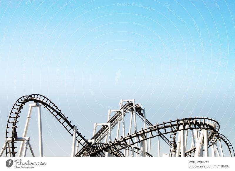 roller coaster Lifestyle Leisure and hobbies Vacation & Travel Summer Oktoberfest Fairs & Carnivals Amusement Park Machinery Technology Sky Roller coaster Steel