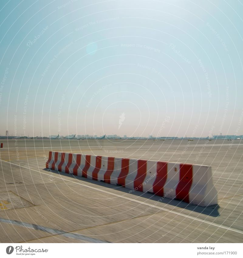 limited Colour photo Multicoloured Exterior shot Deserted Copy Space top Copy Space bottom Day Lanes & trails Aviation Airport Airfield Runway Logistics