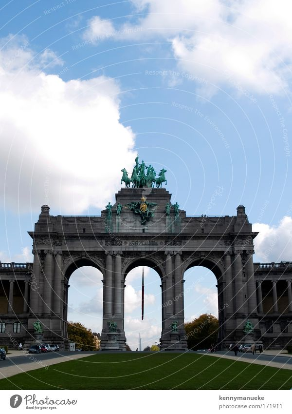 Jubel Park Colour photo Vacation & Travel Tourism Sightseeing City trip Museum Sculpture Brussels Belgium Europe Capital city Gate Day