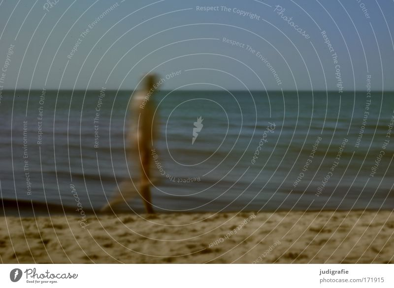 Human being Man Water Sky Ocean Beach Adults Going Walking Environment Baltic Sea