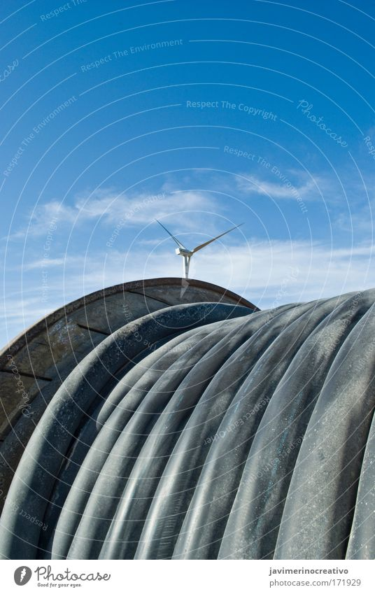 wind Nature Sky Sun Blue Vacation & Travel Landscape Air Environment Technology Climate Wind energy plant Beautiful weather Climate change Inspiration High-tech