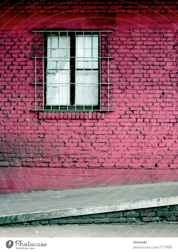 Old City House (Residential Structure) Wall (building) Window Wall (barrier) Building Dirty Architecture Pink Facade Retro Creepy Brick Trashy