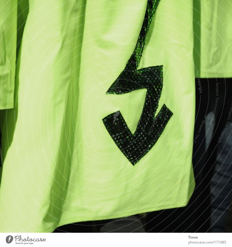 Green Electricity Cloth Arrow Sign Lightning Shirt Thunder and lightning Coat Costume Cape Flashy Zigzag Screen print Bilious green