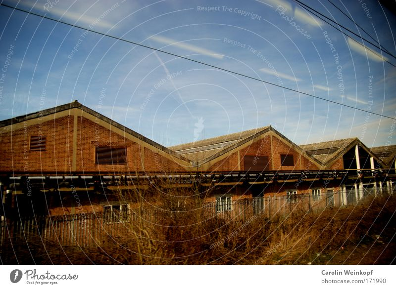 Sky Clouds Loneliness House (Residential Structure) Landscape Wall (building) Architecture Grass Wall (barrier) Building Facade Transport Europe Roof Beautiful weather Village