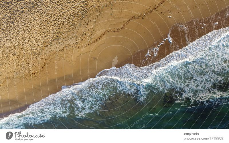 Sea Beach with Waves From the Air Nature Blue Summer White Landscape Ocean Movement Coast Flying Sand Weather Vantage point Wet Beauty Photography