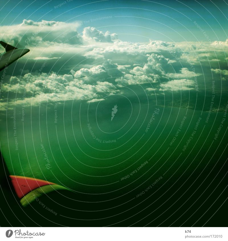 Water Sky Ocean Green Clouds Air Airplane Free Aviation Infinity Wing Engines Passenger plane In the plane