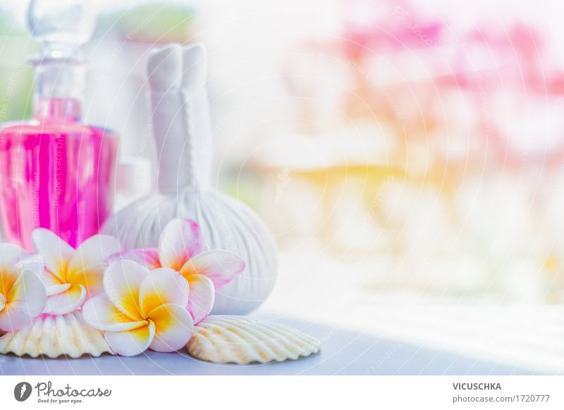 Wellness Background with Frangipani Flowers and Spa Accessories Luxury Style Design Beautiful Personal hygiene Healthy Alternative medicine Relaxation Fragrance