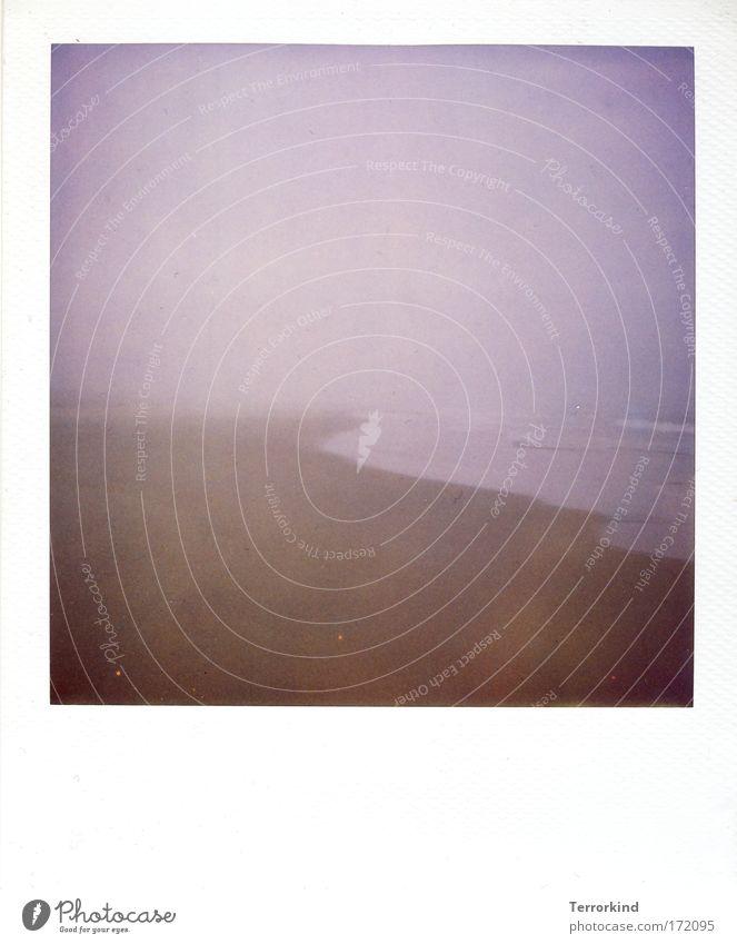 Ocean Beach Sand Polaroid Fog Sylt Scan