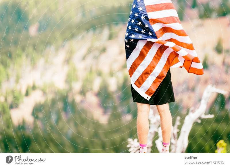 Patriotism, Patridioty Sign Freedom American Flag Oregon USA Symbols and metaphors hegemony Dominant Colour photo Exterior shot Copy Space left