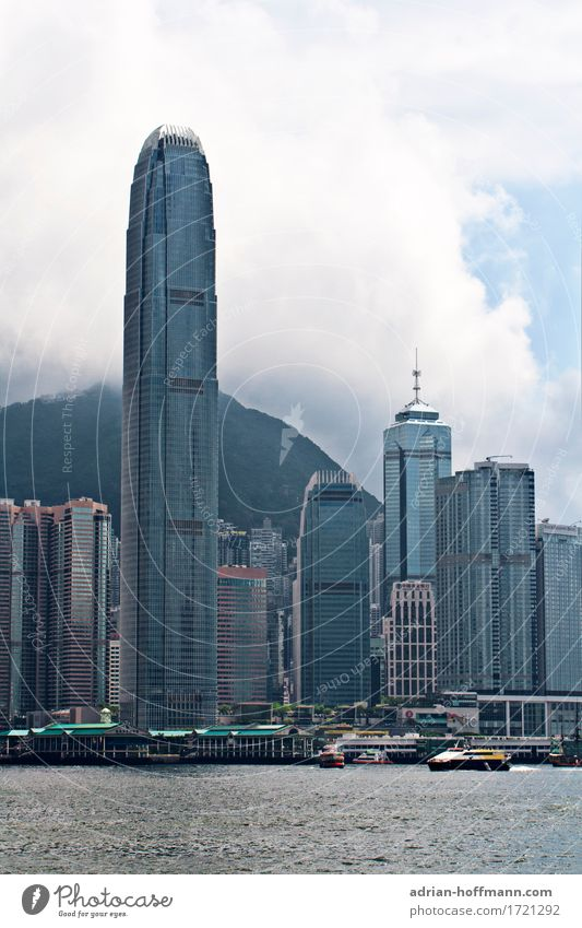 Hong Kong - Victoria Harbour Vacation & Travel Tourism Far-off places Sightseeing City trip Hongkong China Asia Town Port City Downtown Skyline