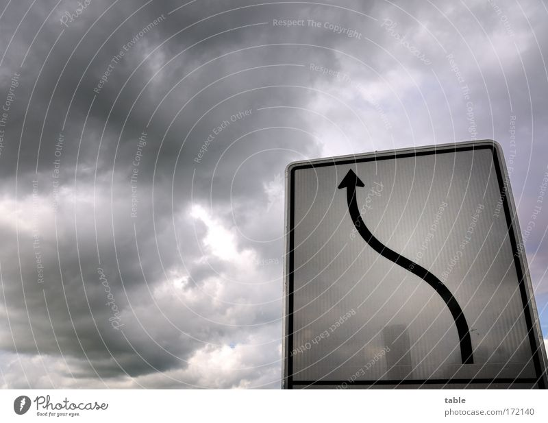 Sky White Clouds Black Gray Air Weather Signs and labeling Transport Dangerous Lifestyle Threat Driving Bar Observe Arrow