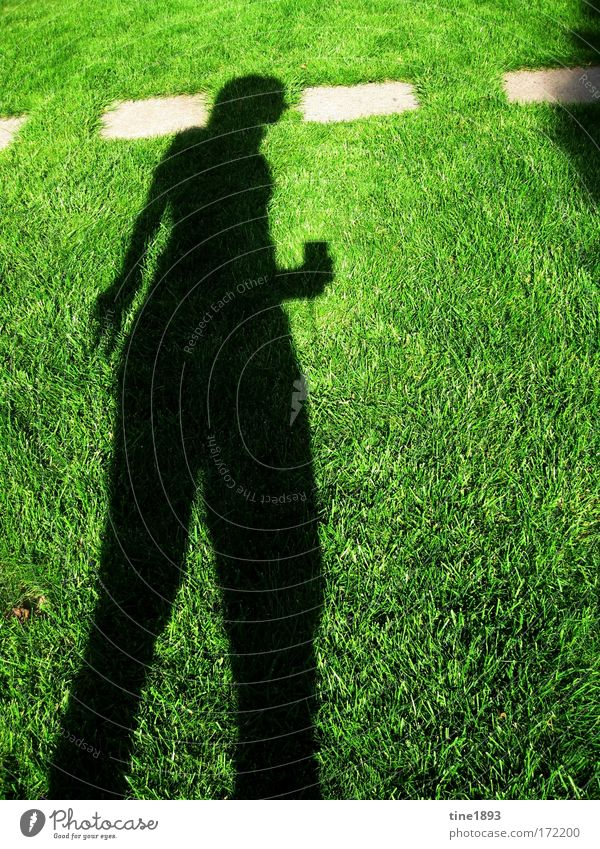 shade in the grass Colour photo Exterior shot Evening Shadow Contrast Silhouette Full-length Looking away Human being Feminine 1 Nature Earth Sunlight Summer