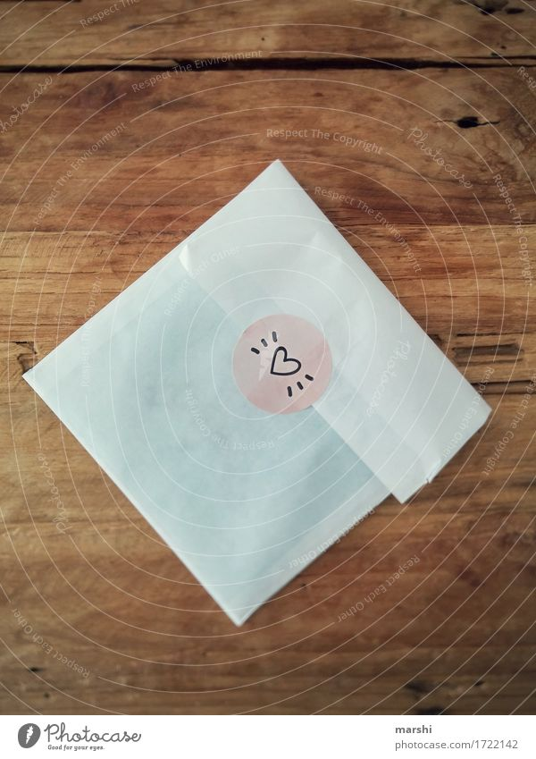 love letter Sign Characters Signs and labeling Emotions Moody Happy Friendship Together Love Romance Love letter Heart Surprise Decoration Wooden table