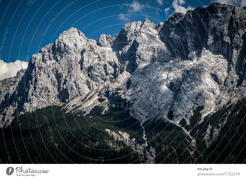 geological history Vacation & Travel Adventure Summer vacation Mountain Hiking Nature Landscape Sky Climate change Rock Alps Zugspitze Germany Bavaria Europe