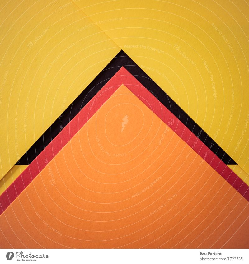 OrsG^^^GsrO Paper Decoration Sign Line Arrow Stripe Esthetic Sharp-edged Multicoloured Yellow Orange Red Black Design Colour Target Pyramid Geometry Point