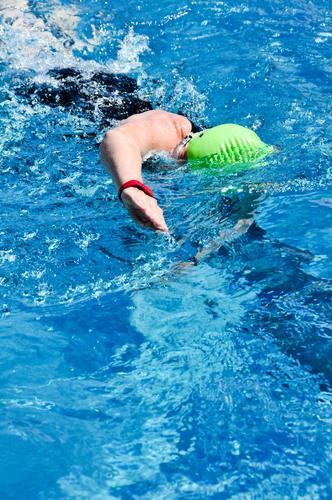 Triathlon - Swimming Swimming pool Sports Fitness Sports Training Aquatics Track and Field Sportsperson Sporting event Swimming & Bathing Human being Feminine